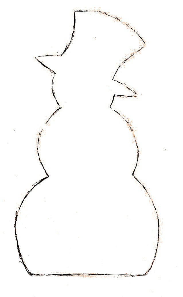 Snowman Templates To Cut Out Place the cut out snowman
