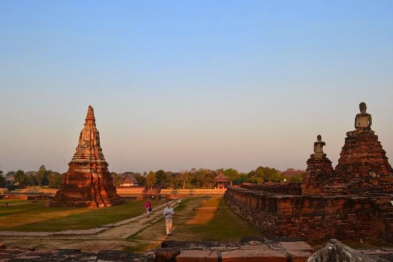 Ayutthaya, Thailande, royaume de siam, temples, ruines, Wat Chaiw