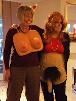 Pass the parcel comedy breasts and willie pants