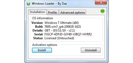 Windows 7 © Loader_v2.0.4