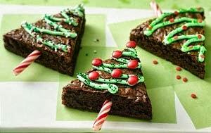 Bolo de brownie de chocoalte para ceia de Natal