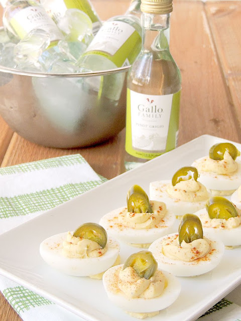 Jalapeño Popper Deviled Eggs with 40 other Cocktail and Appetizer Recipes to get your party started!