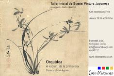 AGOSTO: Seminario Inicial Sumie: Pintura Japonesa: Orquidea. Por Julieta Jiterman