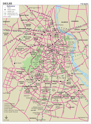 Delhi Road Map