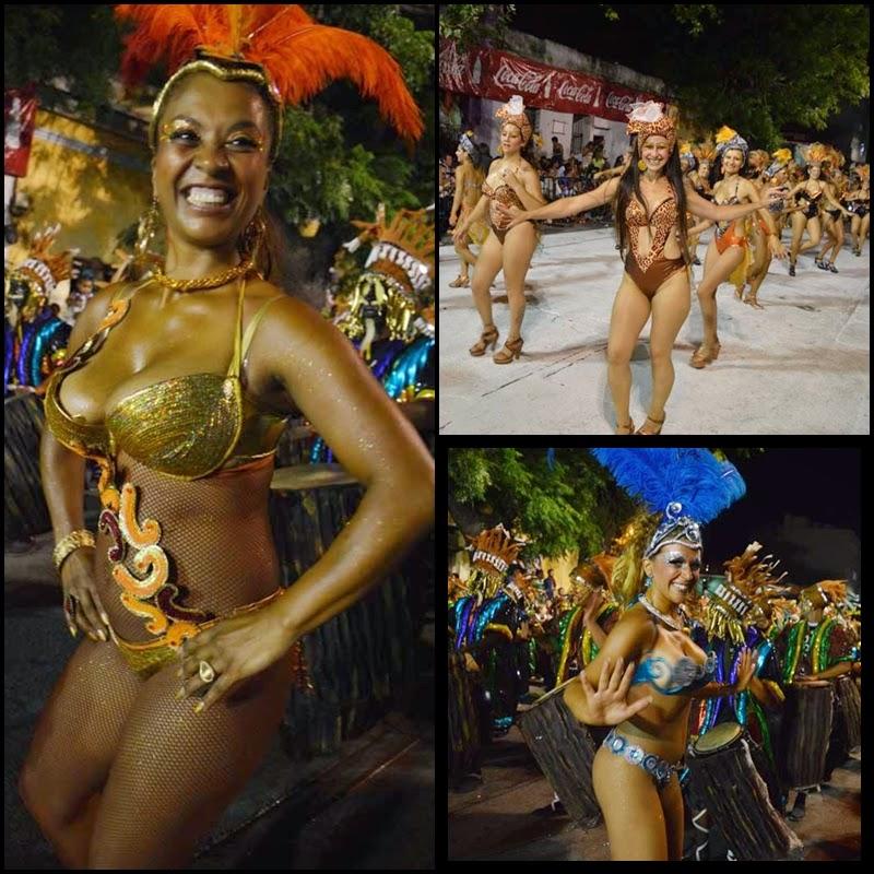Carnaval. Desfile de Llamada.s Las Panteras De Benguela.