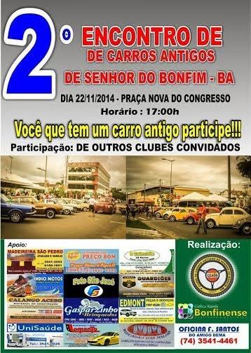 2º ENCONTRO DE CARROS ANTIGOS DE BONFIM