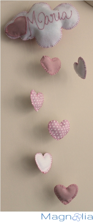 embroidery, hearts mobile