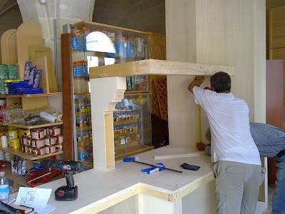 Fai da te hobby legno cucina in finta muratura - Cucina componibile fai da te ...