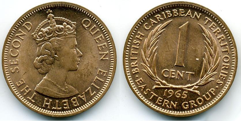 Монета восточных карибских островов