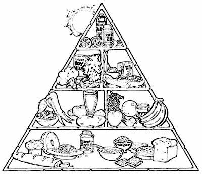 Printable Food Pyramid Coloring Pages