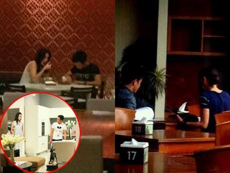 Gambar Foto Ariel dan Sophia Latjuba Mueller Terbaru di Restoran