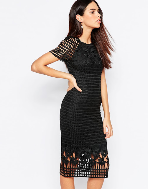 warehouse black grid dress, premium black lace dress,