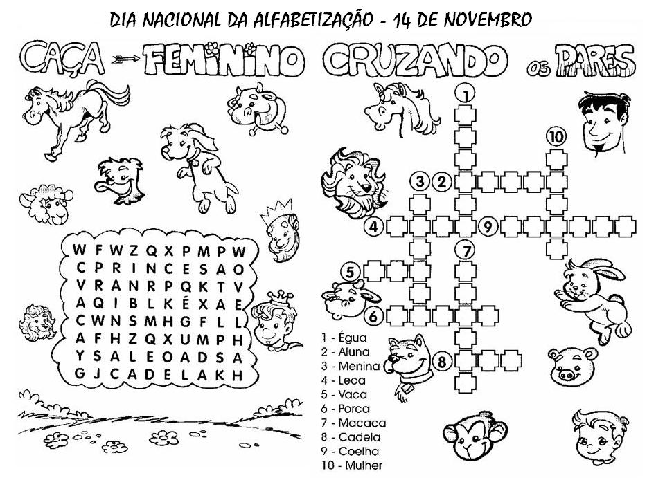 a desenhar Cruzadinhas animais colorir