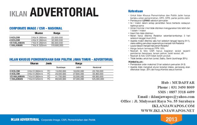 Jawa Pos Iklan Advertorial Corporate, Pemerintahan, Politik 2013