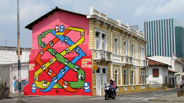 """Amor Por Colombia"" New Urban Art Mural For Street Kills Festival In Santiago De Cali, Colombia."