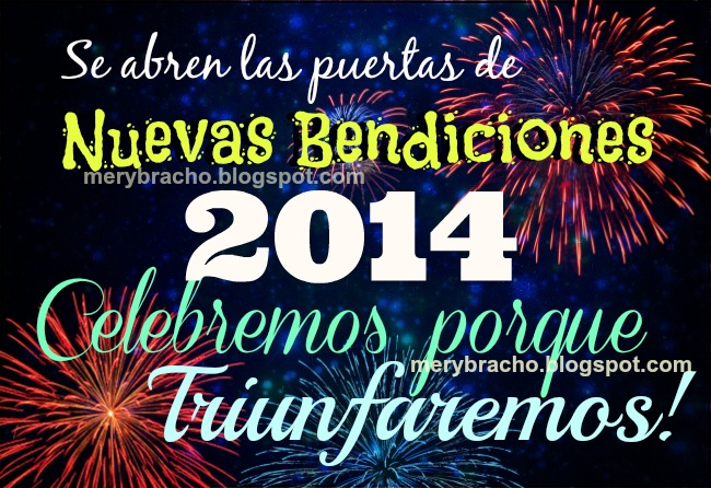feliz año nuevo 2014, bendiciones, triunfaremos, exitos empresa familia, nuevo año escolar