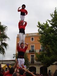 Pilar de 4 a la Diada del 7 d'agost a Vilafranca: Pinya Xicotera + Felix, Jose, Lali i Júlia !