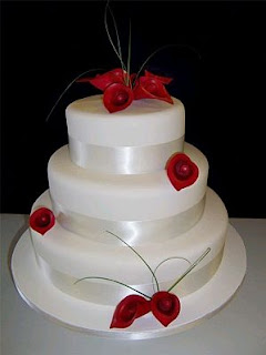 Wedding Cakes with calla lilies