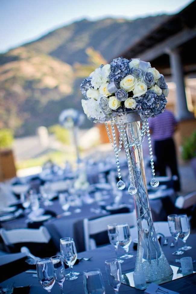 Blue Shades For Wedding Table Reception Decor Ideas Of Bridal Trend