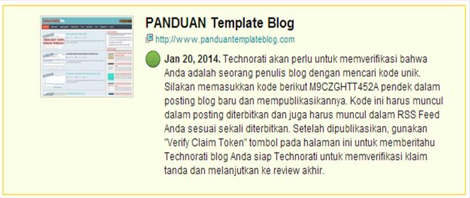 Kode Blog M9CZGHTT452A Untuk Technorati