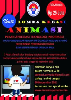 November Lomba Kreasi Animasi Pemuda Hadiah Rp 25 Juta