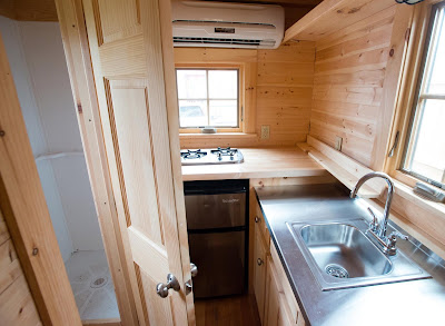 sink and stove in 200sq ft home