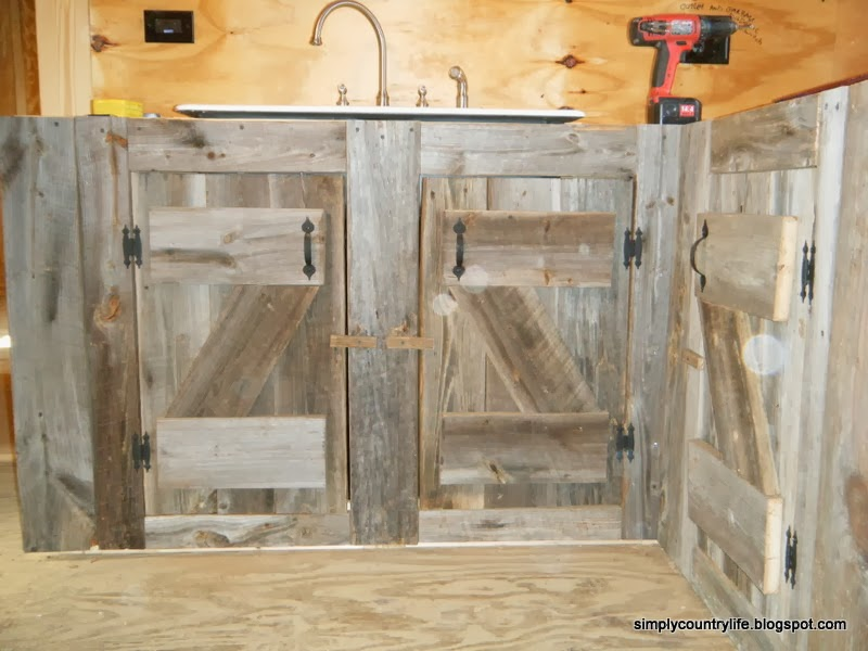 Life Cabin Chronicles Part 12 Reclaimed Barnwood Kitchen Cabinets