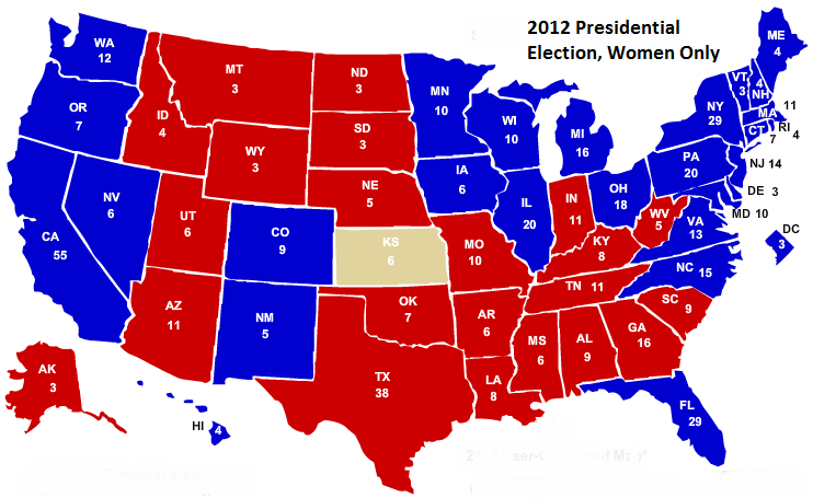 electoral projection map