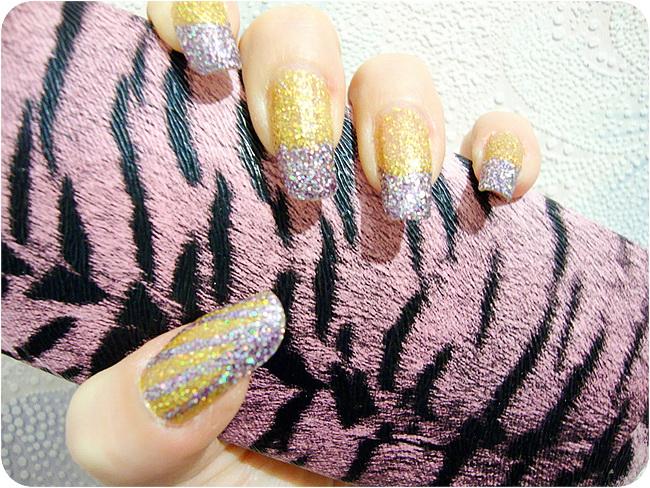 Nails, glitter