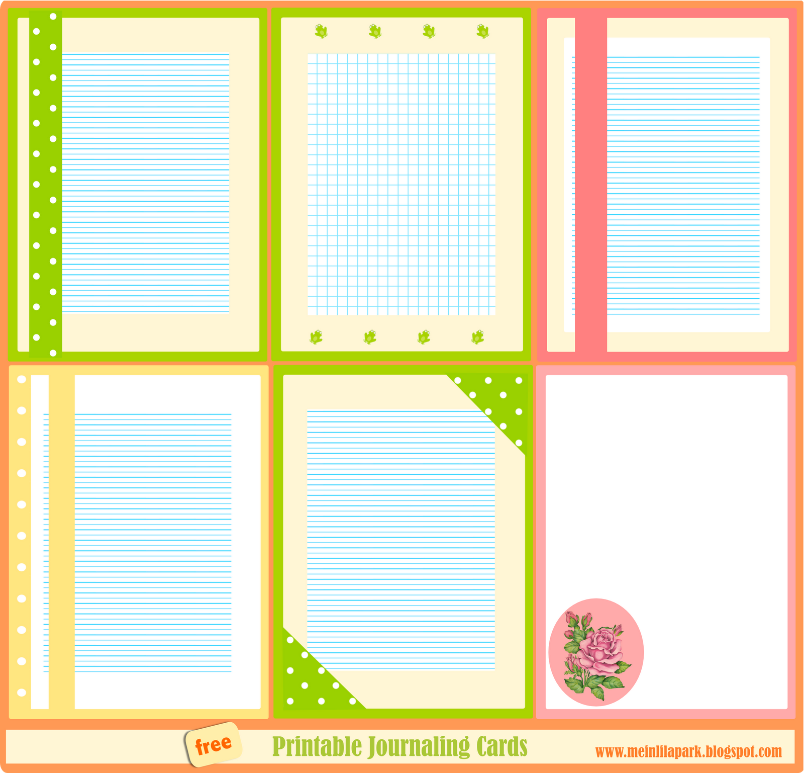 free printable journaling cards: summertime ...