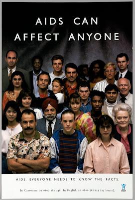 Historia de las Campañas SIDA VIH AIDS can affect anyone 1987
