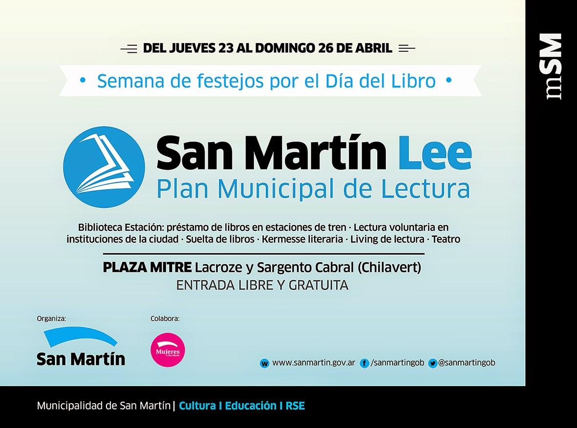 Semana del Libro y lanzamiento del Plan San Martín Lee