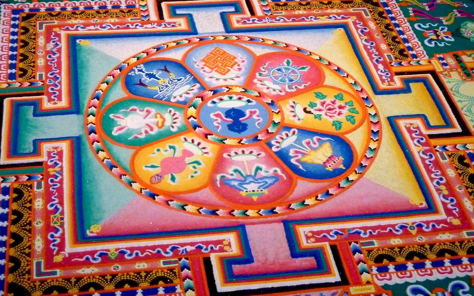 Tibetan Sand Painting For Sale