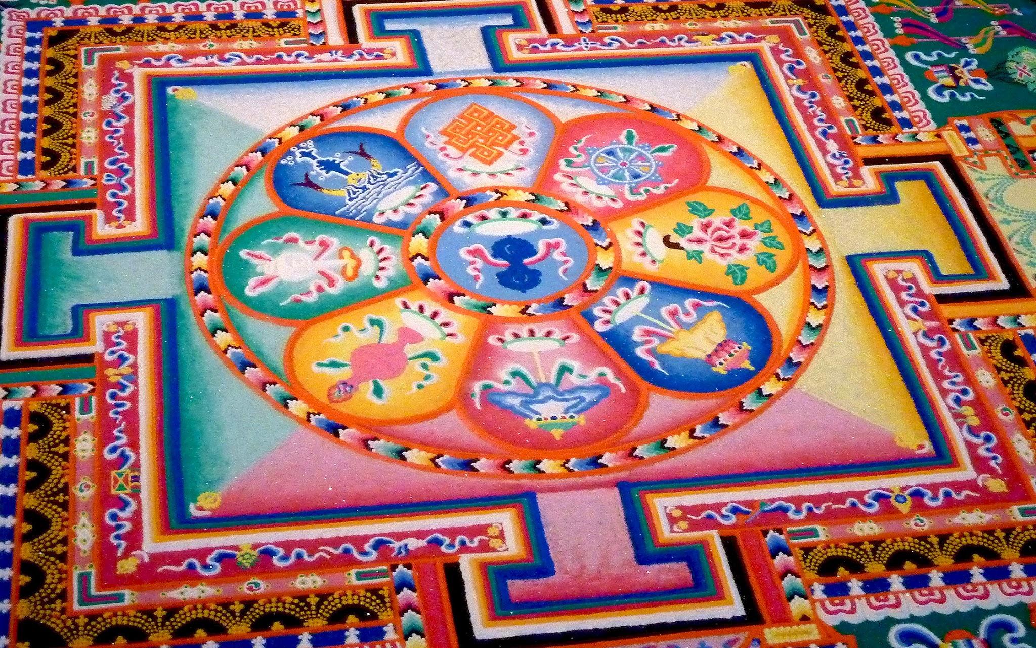 Tibetan mandala wallpaper