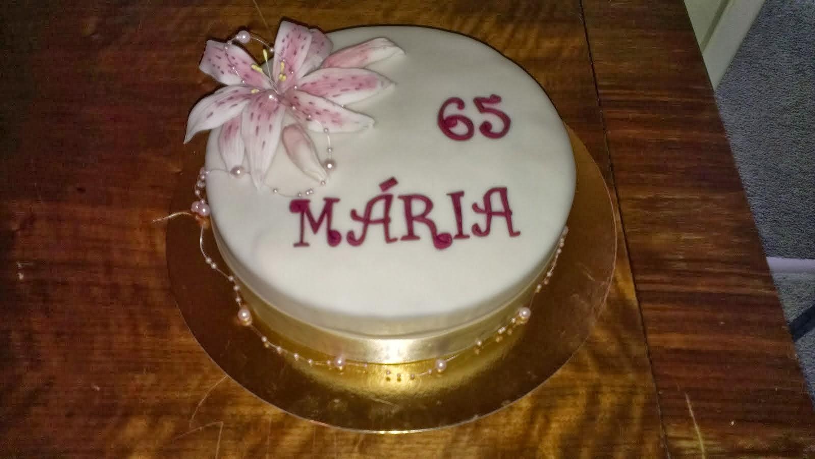 Torta k 65-ťke