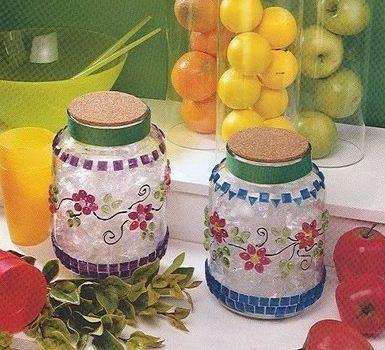 Manualidades :frascos decorados ~ lodijoella