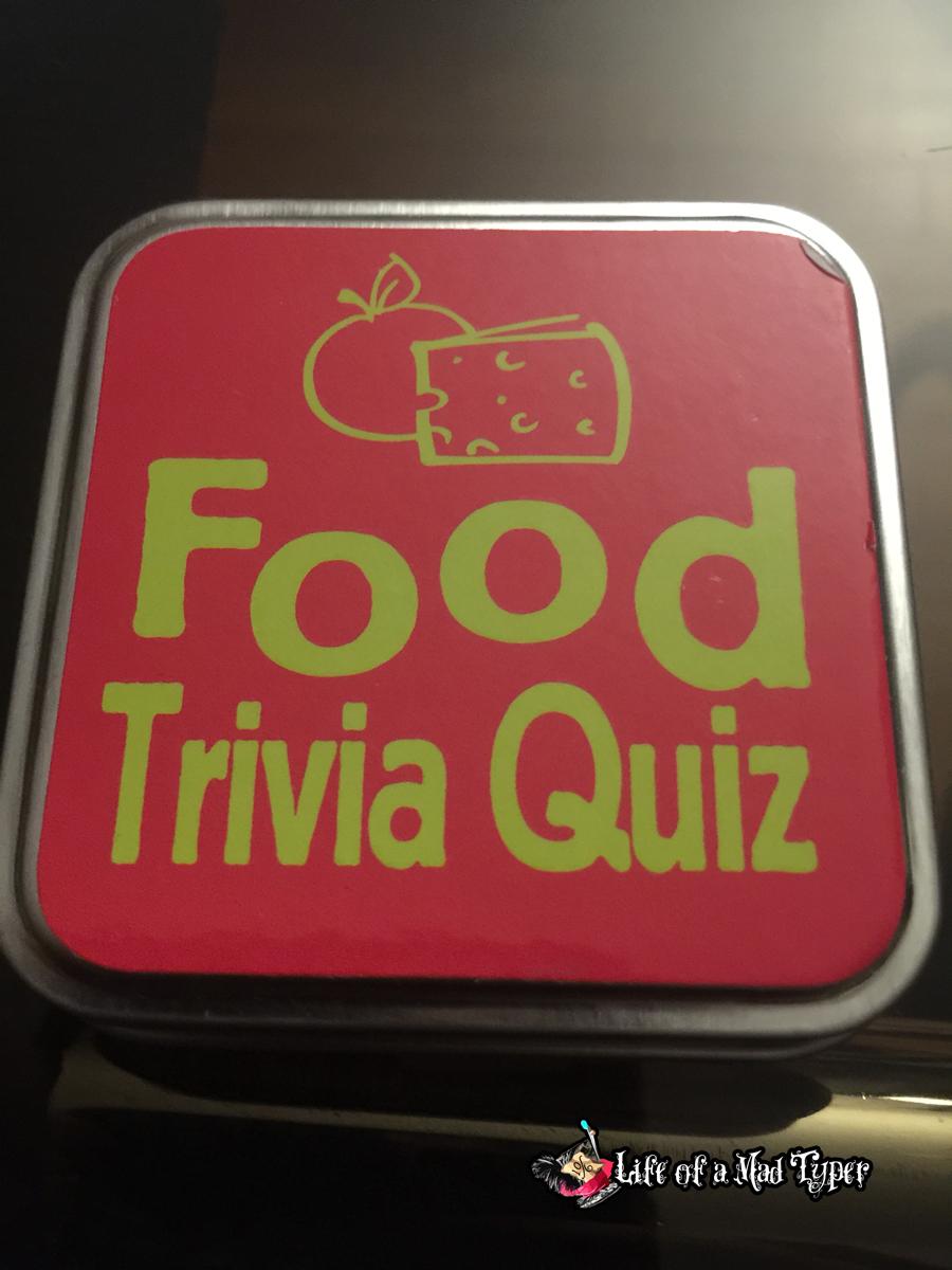 Food trivia game