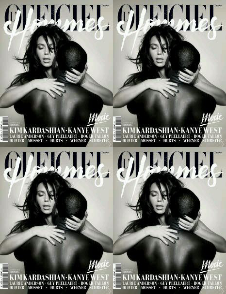 Kim and Kanye L'Officiel Hommes Paris Spring 2013 by Nick Knight