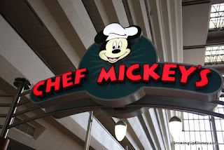 Chef Mickey's sign