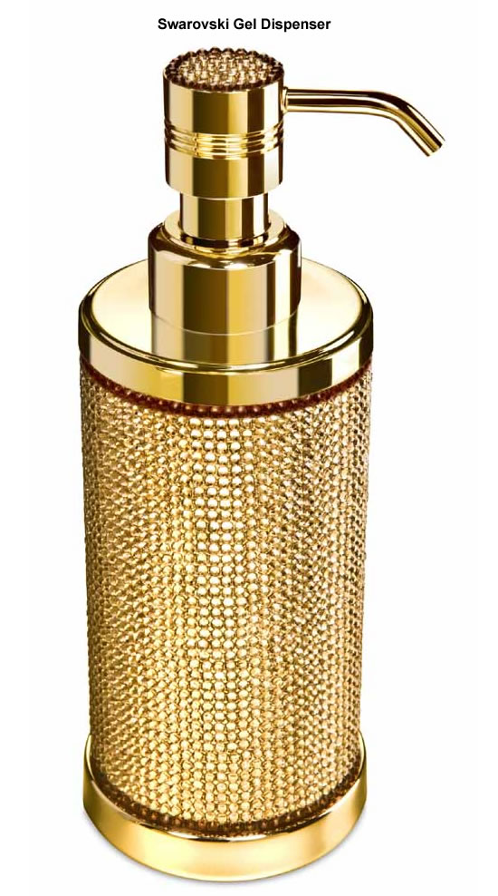 The Luxuriest Moment Gold Plated Bath Accessories Glamorized With Swarovski Crystals For The Queen