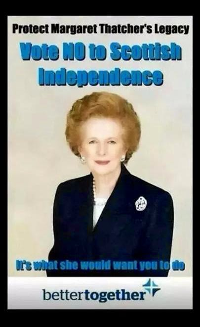 Voting No keeps alive Thatcher's legacy