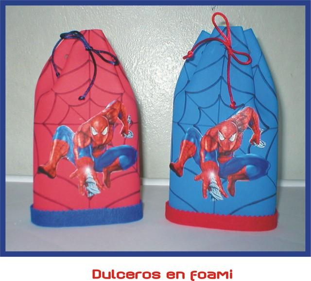 Dulceros de spiderman - Imagui