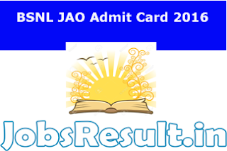 BSNL JAO Admit Card 2016