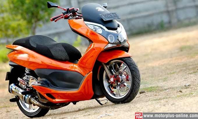 Modifikasi Honda PCX 150 2011 Ceper