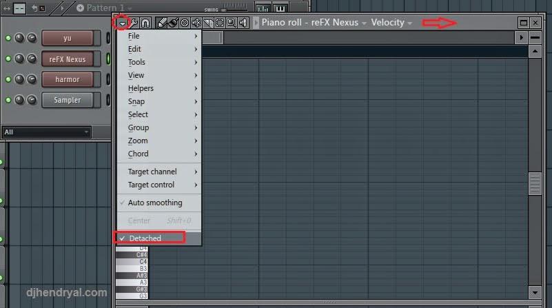 Cara setting tampilan Fl studio 2 monitor