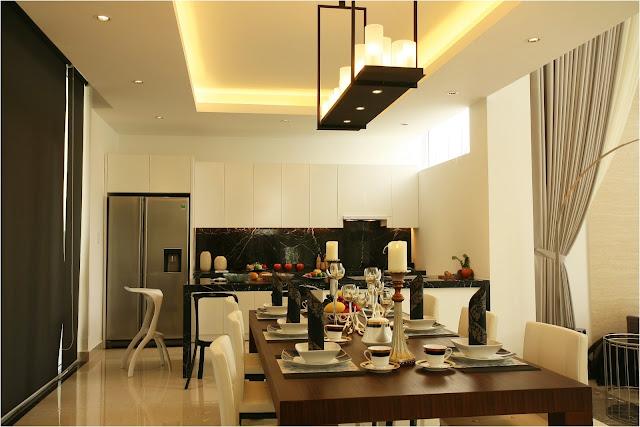 Khu vực bếp và bàn ăn biệt thự Villa Park