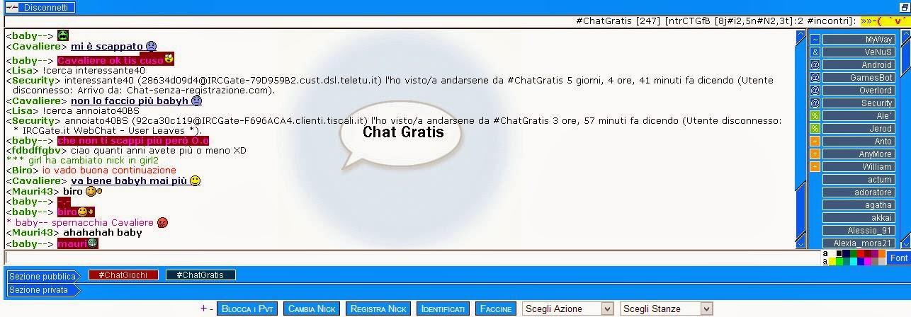 chatt gratis senza registrazione