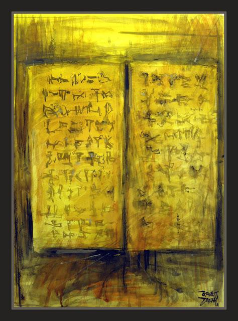 TABLAS-SINAI-MOISES-DIOS-ELOHIM-TEXTOS-SAGRADOS-ANUNNAKI-PINTURA-PINTOR-ERNEST DESCALS-