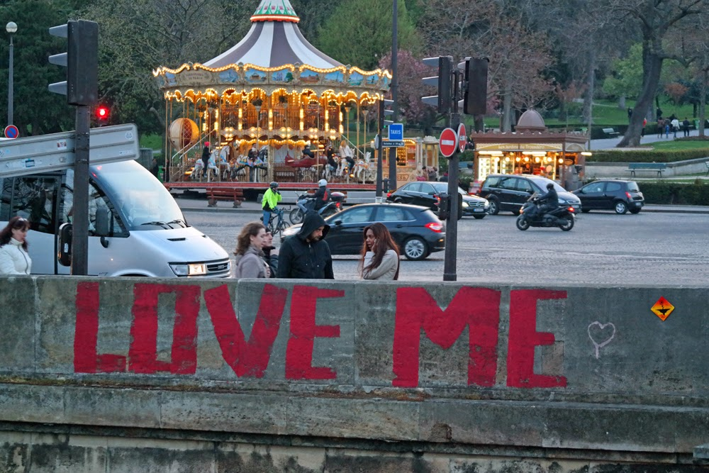 "Graffiti reading ""Love Me"""