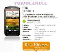 HTC Desire X por 0€ más pago a plazos en febrero 2013